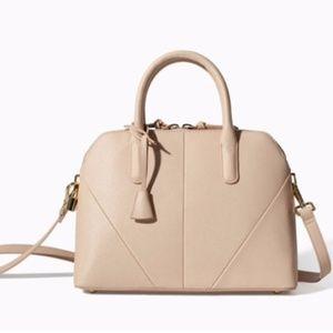 Zara Nude Mini City Bag
